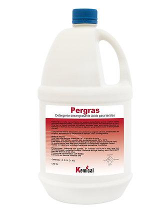 PERGRAS - Detergente Líquido Humectante Oxigenado, Desmanchador con pH Acido