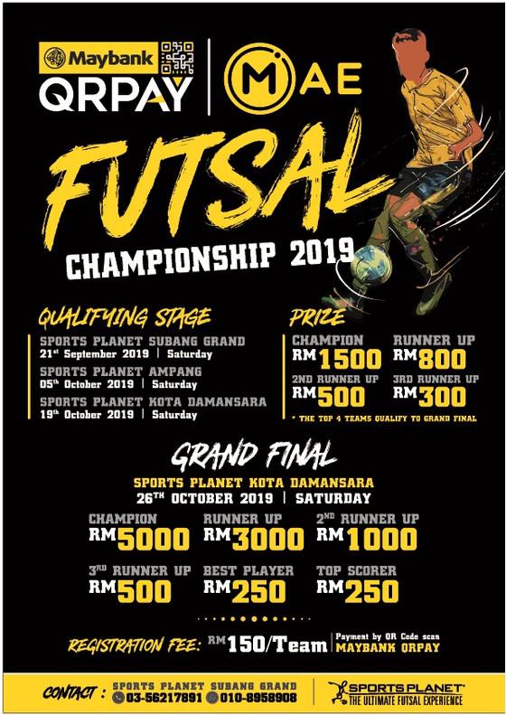 Maybank QRPAY Futsal Championship 2019 - Men's Open