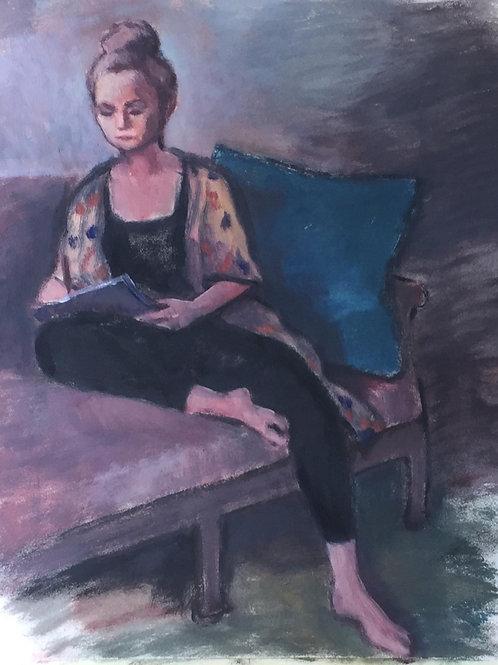 Nathalia, with Book