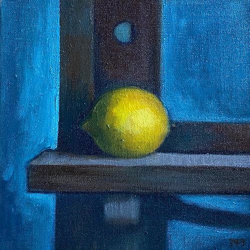 Lemon on Easel/Blue