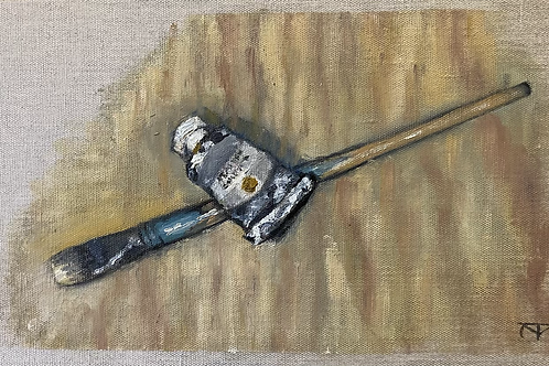 Still Life with Brush and Tube of Ochre