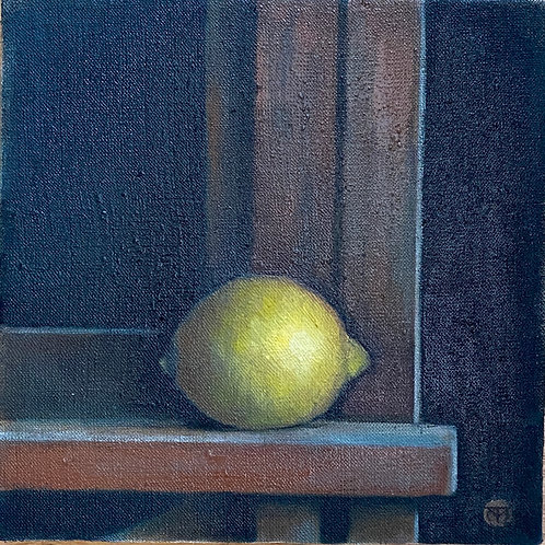 Lemon on Easel/Black