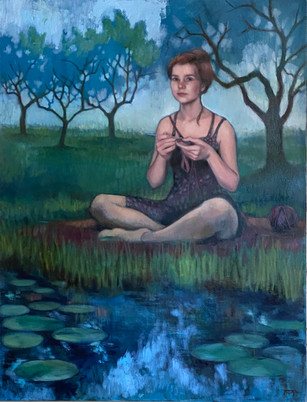 Crochet. Orchard. Water Lilies