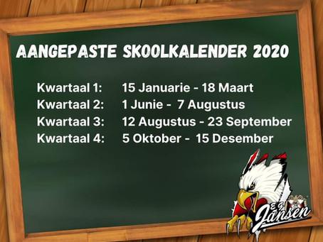 Aangepaste Skoolkalender 2020