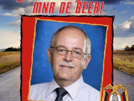 VEELS GELUK MNR DE BEER!