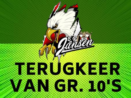 TERUGKEER VAN GR.10 LEERDERS