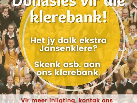 Donasies vir die klerebank