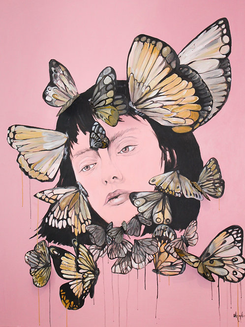 La Femme Papillion- Limited Edition Fine Art Glicee PRINT
