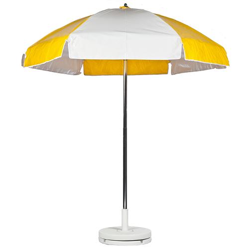 Concession Cart Umbrella - Yellow & White