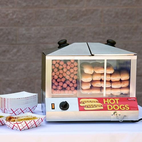 100 Dog / 48 Bun Hot Dog Steamer