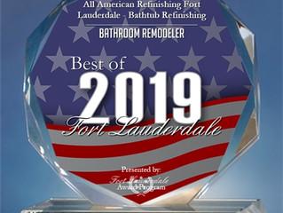 2019 Best of Fort Lauderdale Award in the Bathroom Remodeler
