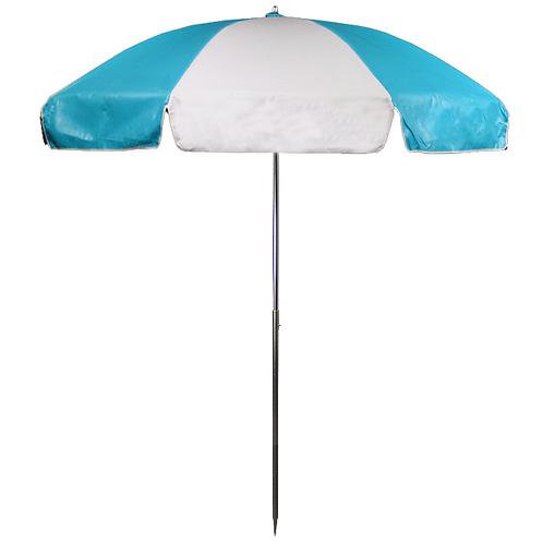 Concession Cart Umbrella - Aqua & White