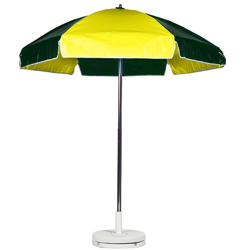 Concession Cart Umbrella - Yellow & Green