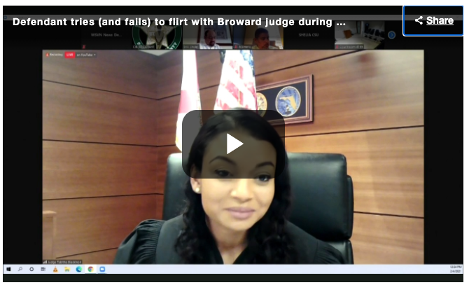 Defendant tries (and fails) to flirt with Broward judge during bond court appearance