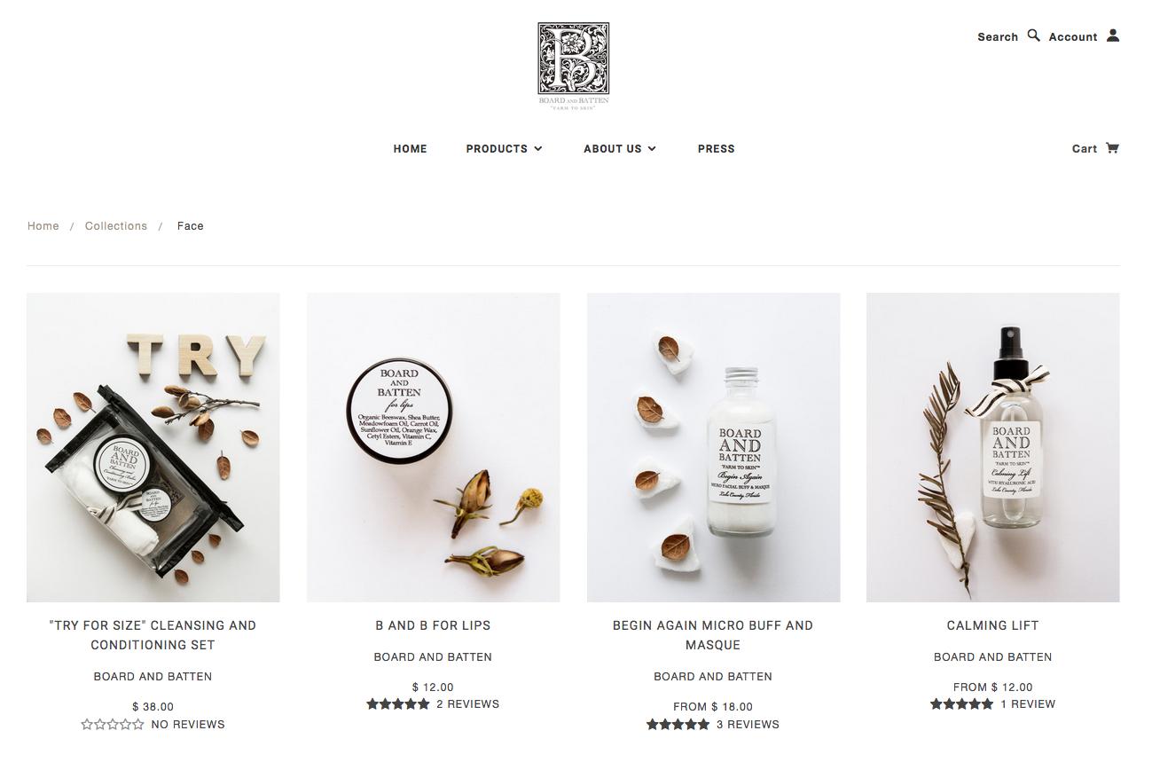 Natural Skincare eCommerce Website