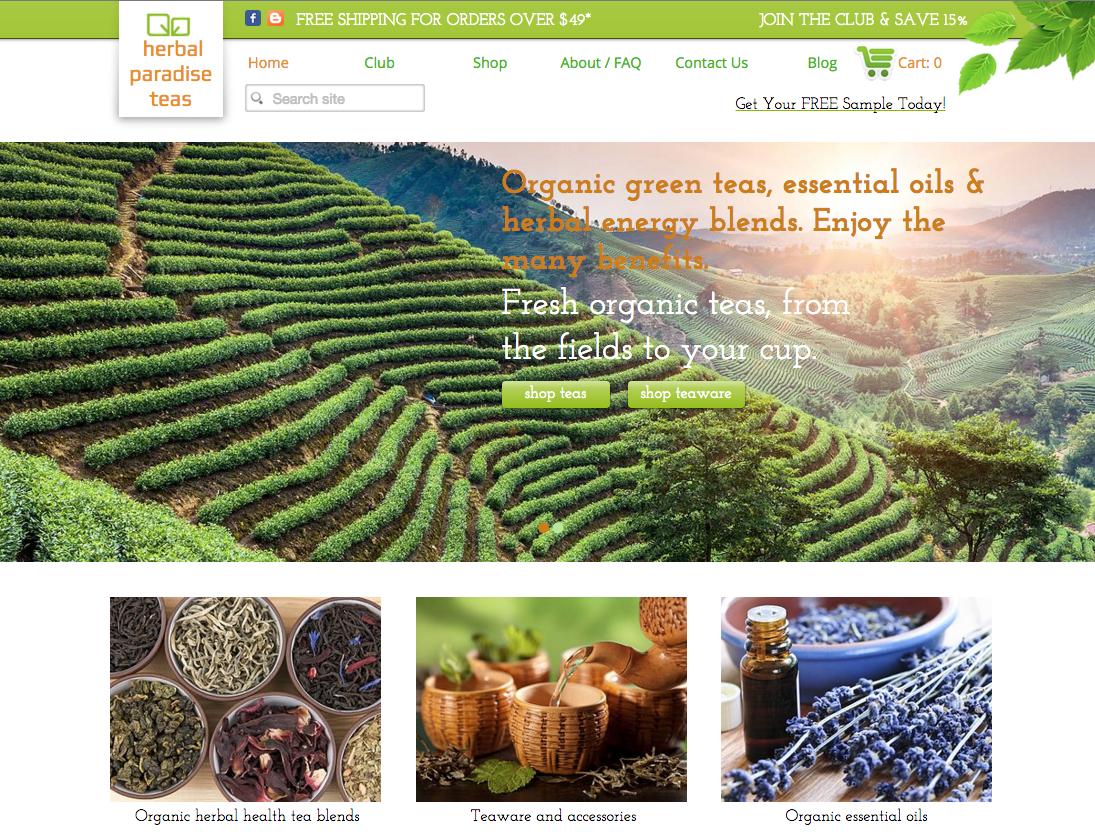 Hebal Tea eCommerce Website