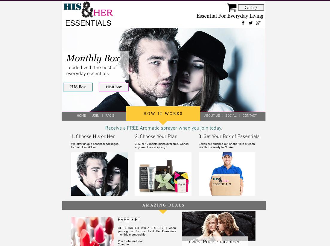 eCommerce Subscription Website