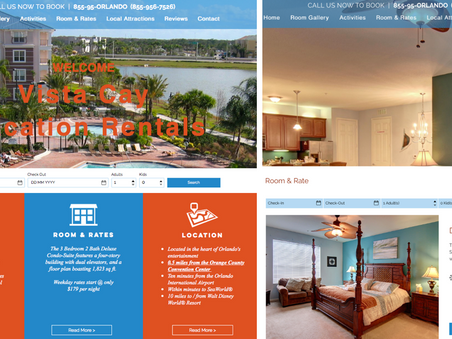 New Website Launch - Orlando Vacation Rental