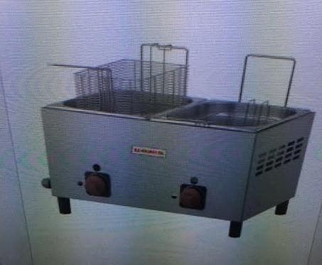Gas Fryer, 2 Basket/2 Well