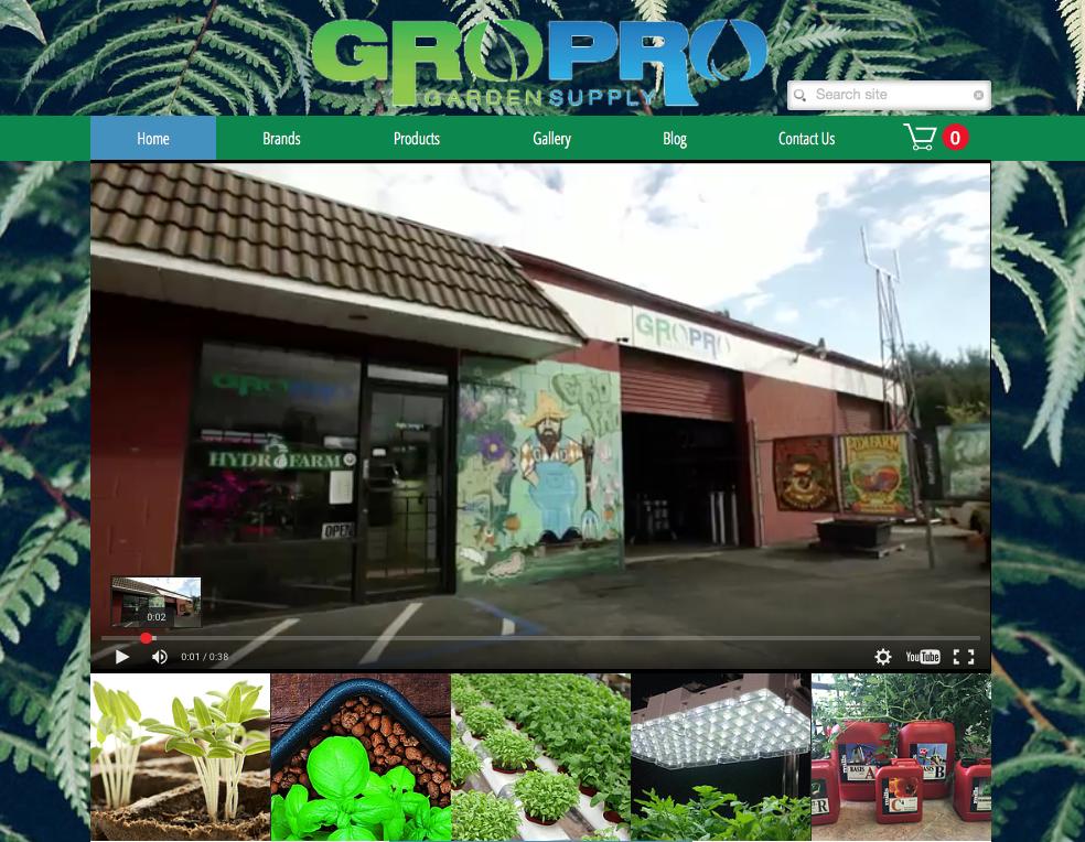 eCommerce Website | GroPro Garden