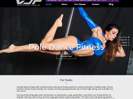 Miami Fitness Website - Newly Launched