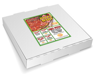 Box Toppers|Pizza Box Toppers|carry out menu|EDDM eligible flyer