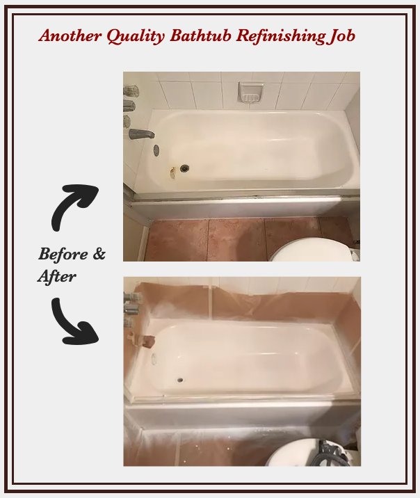 Before & After Bathtub Reglazing