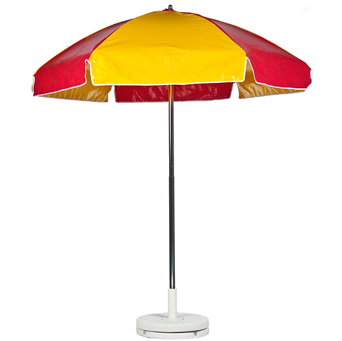 Concession Cart Umbrella - Red & Yellow