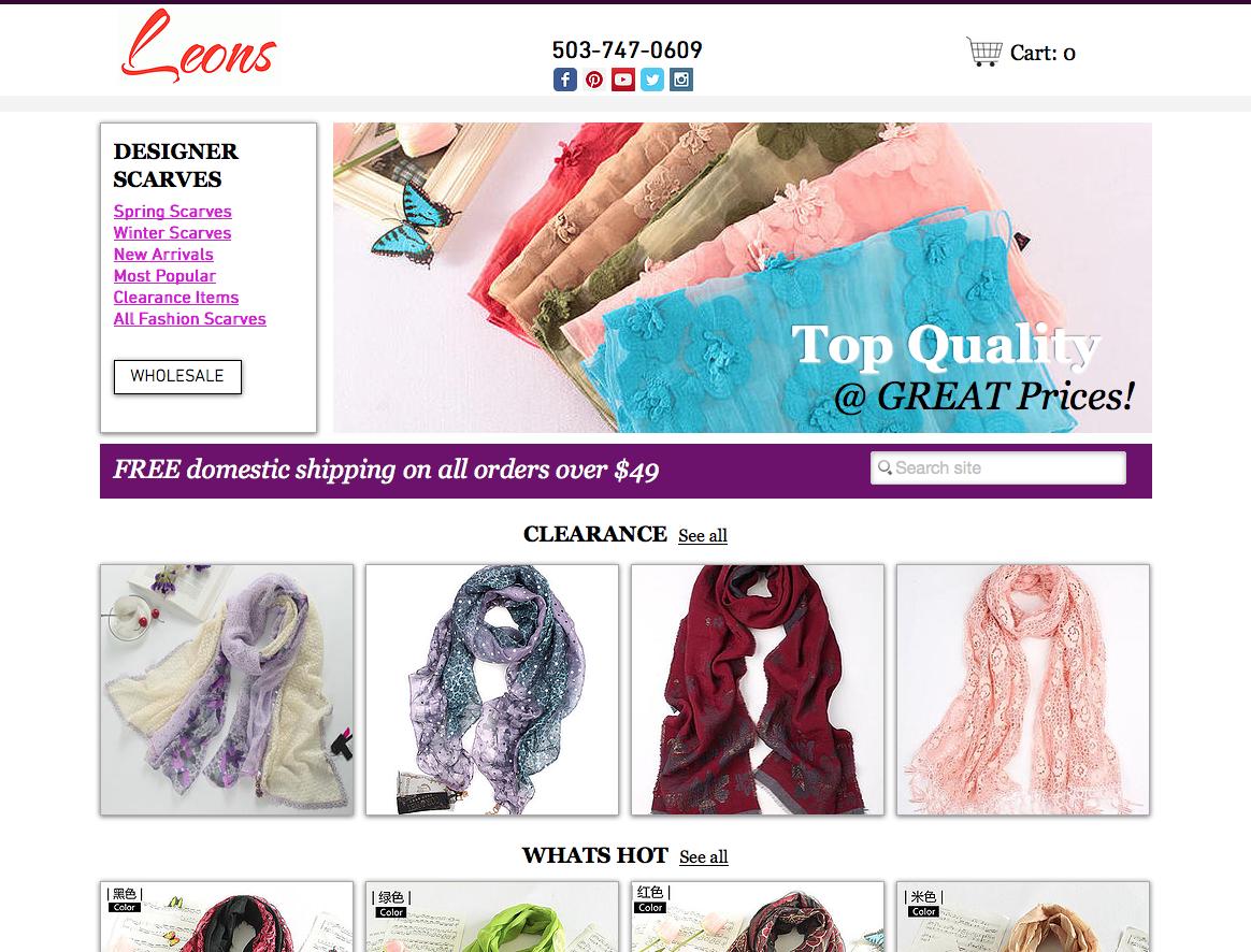 Fashion Wholesaler Website