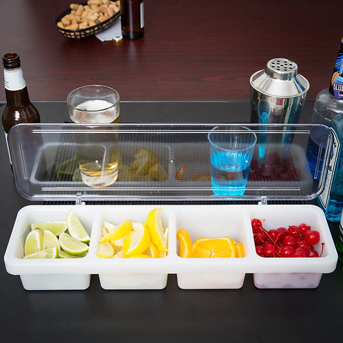 4 Compartment Bar Condiment Tray