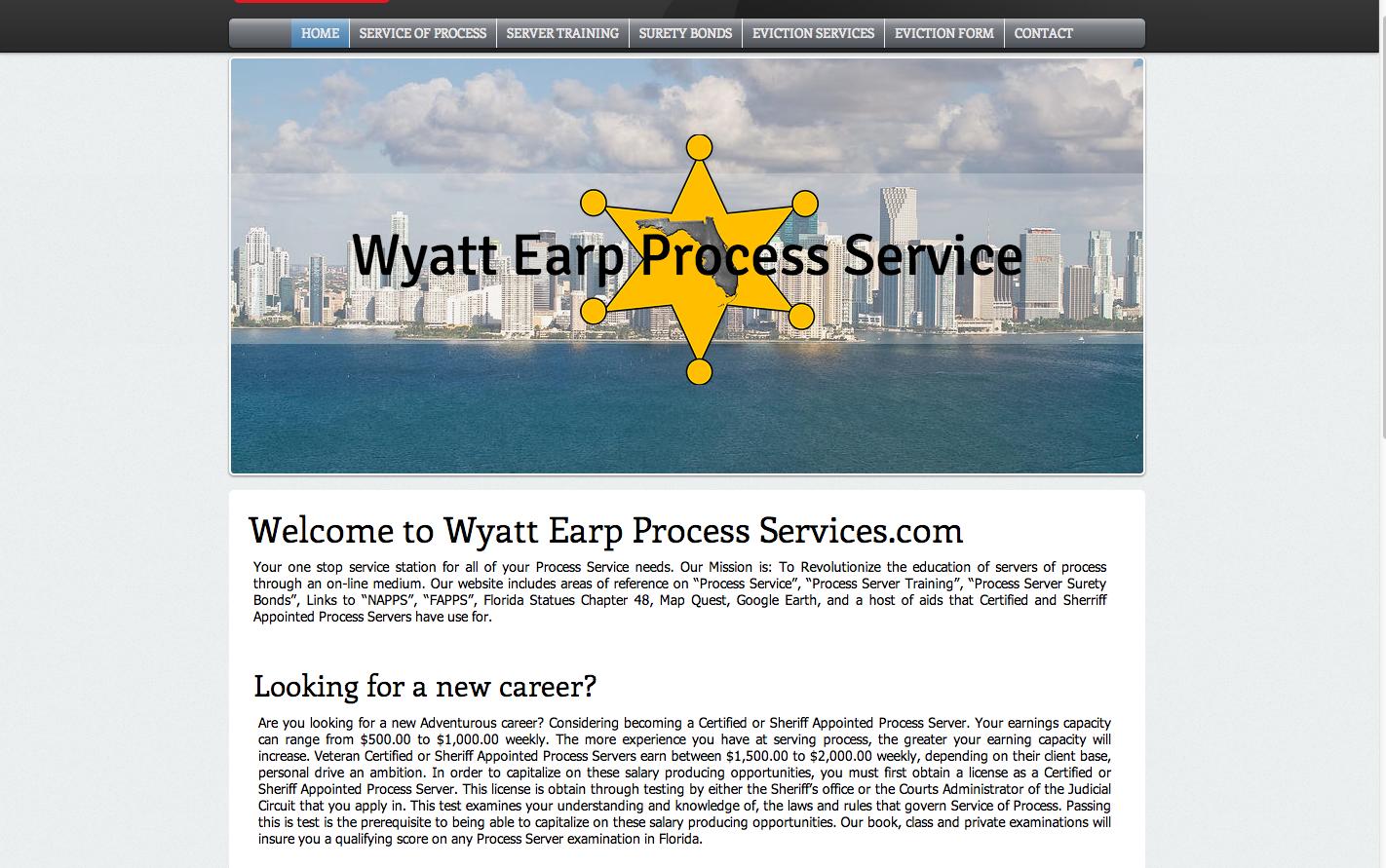 Wyatt Earp Process Service