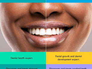 WHAT'S THE DIFFERENCE BETWEEN A DENTIST AND AN ORTHODONTIST?