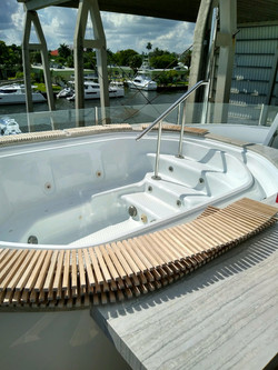 finished spa in mega yacht