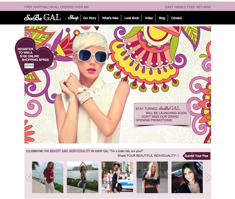 Fashion Website SoBeGAL