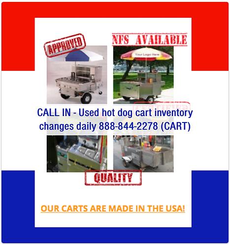 Used Hot Dog Carts Starting @