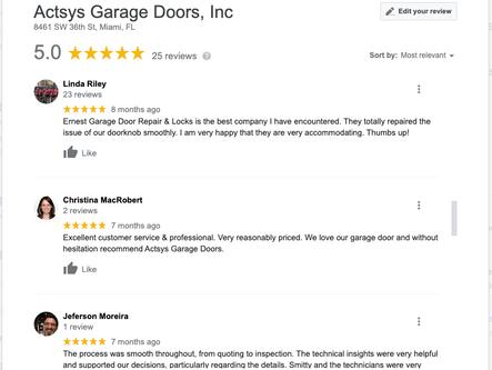 5 Garage Door Company 5 Star Google Revi