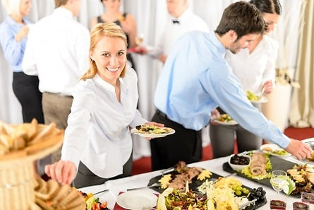 business luncheon being served