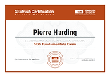 seo certification semrush