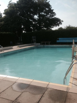 the pool at 25 degrees