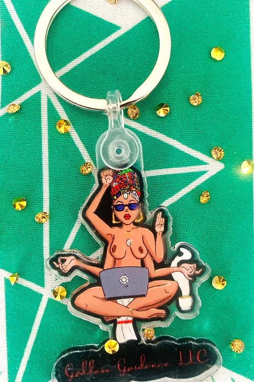 Black Goddess Keychain