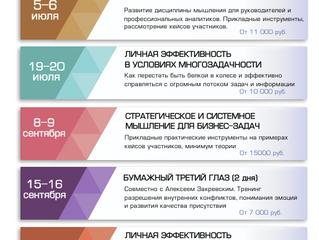 Расписание мероприятий 2018