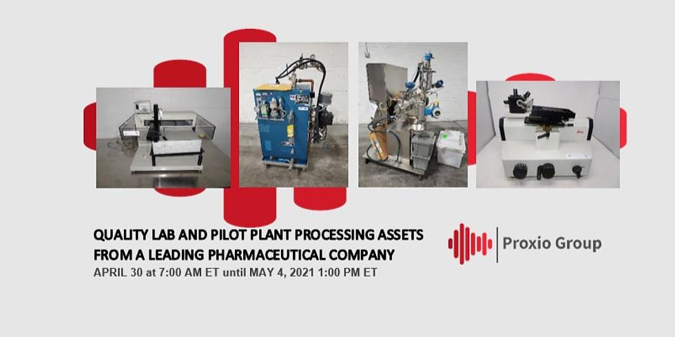 Laboratoire de qualité et actifs de traitement de l'usine pilote