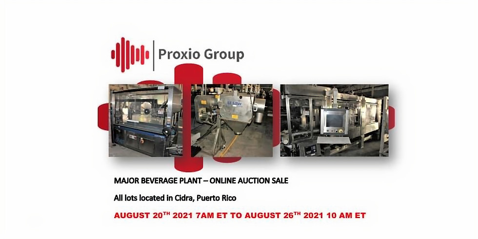 Global Online Auction of a Major Beverage Plant