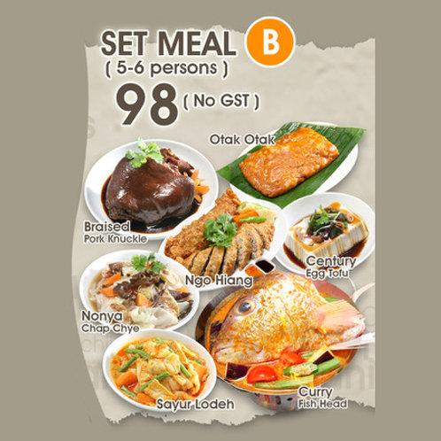 Set B (5 - 6 persons)