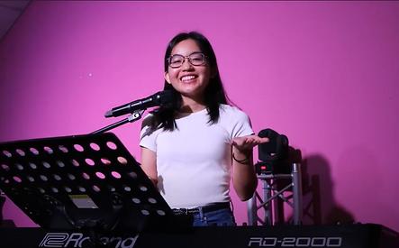 Sarah with piano