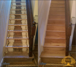 Stairs oak cladding