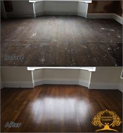 Old oak flooring restoration