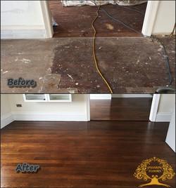 Original oak flooring restoration