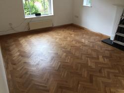 New oak parquet flooring