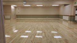 Community hall maple floor
